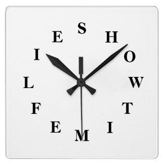Relógio Quadrado Como o tempo voa branco fume o pulso de disparo de