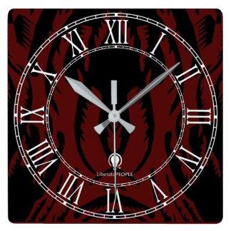 Relógio Quadrado Comprar decorado moderno do pulso de disparo de