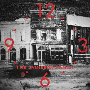 ba4a842e1b8 Relógio Quadrado Construções velhas com o pulso de disparo