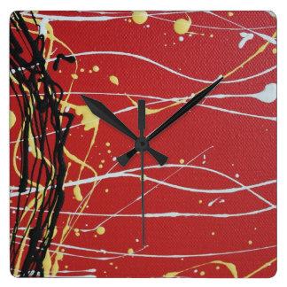 Relógio Quadrado Cores aborígenes