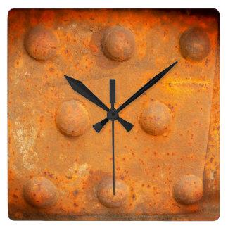 Relógio Quadrado Cores da oxidação 07.2.2, Oxidação-Arte