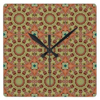 Relógio Quadrado Cores da oxidação 712_R, Oxidação-Arte