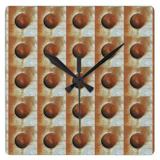 Relógio Quadrado Cores da oxidação Ob1.01.2, Rost-Arte