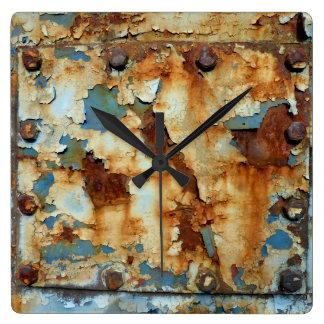 Relógio Quadrado Cores da oxidação Ob3.0, Rost-Arte