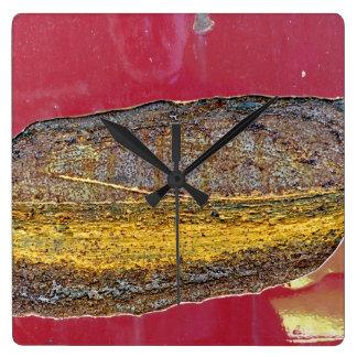 Relógio Quadrado Cores de Rust_729, Oxidação-Arte