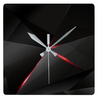 Relógio Quadrado Corvo vermelho