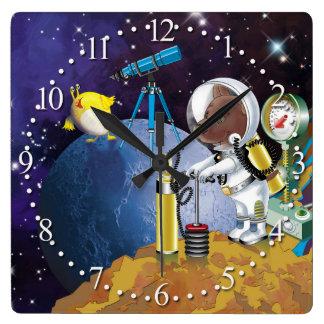 Relógio Quadrado cosmos