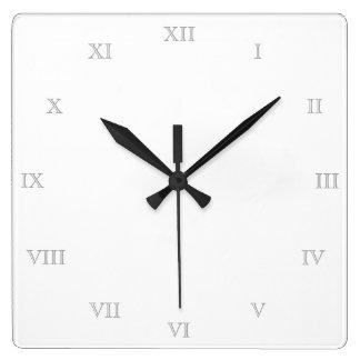 Relógio Quadrado Criar seu próprio modelo vazio dos numerais