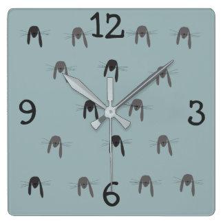 Relógio Quadrado Criatura da floresta do coelho