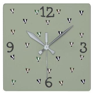 Relógio Quadrado Criatura da floresta do texugo