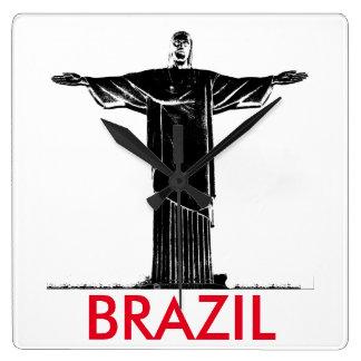 Christ the Redeemer Statue Brazil Minimalist Clock
