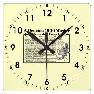 Relógio Quadrado Da arruela um pulso de disparo 1900 de parede