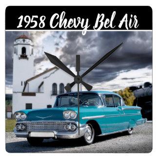 Relógio Quadrado De Chevy do Bel Air do carro depósito 1958 de trem
