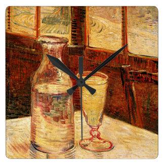 """Relógio Quadrado De um Carafe de Van Gogh """"vidro do pulso de"""