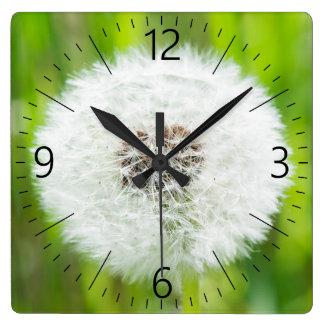 Relógio Quadrado Dente-de-leão