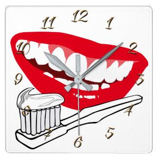 Relógio Quadrado Dentista