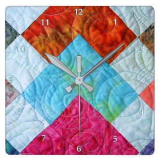Relógio Quadrado Design do quadrado da edredão