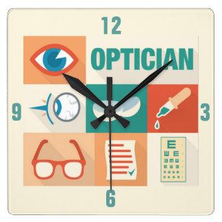 Relógio Quadrado Design icónico do óptico profissional