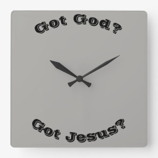 Relógio Quadrado Deus obtido? Jesus obtido? Pulso de disparo