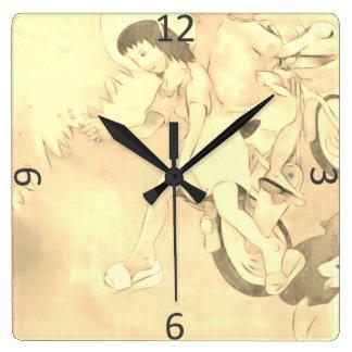Relógio Quadrado Dias inocentes