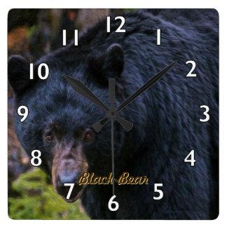 Relógio Quadrado Dignidade do urso preto