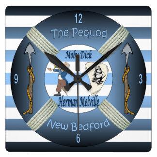 Relógio Quadrado ~ do Moby-Pau o ~Capt Ahab de Herman Melville do ~