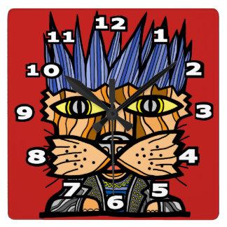 """Relógio Quadrado Do """"pulso de disparo de parede quadrado do Kat"""
