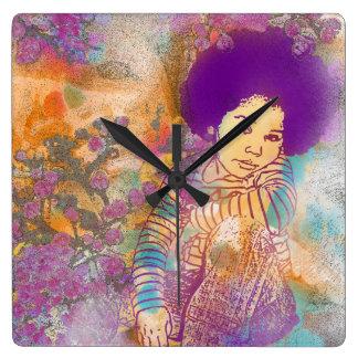 Relógio Quadrado Dreaming My Calcular o tempo Away