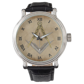 Relógio Quadrado e compasso com todo o olho de vista