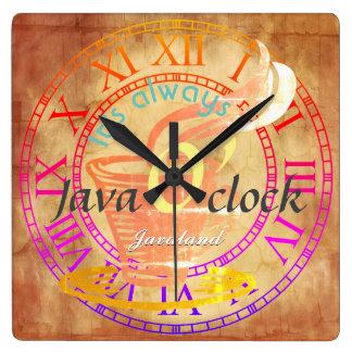 """Relógio Quadrado """"É sempre hora de Java! """""""