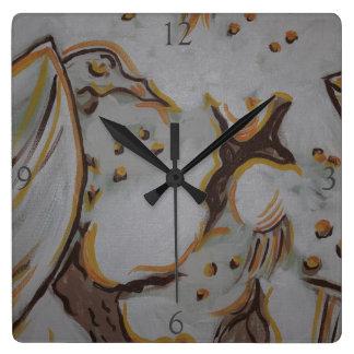 Relógio Quadrado Eagle amarelo