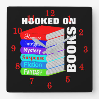 Relógio Quadrado Enganchado na novidade dos amantes de livro dos