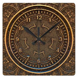 Relógio Quadrado ESCREVENTE do TEMPO | um estilo antigo