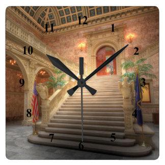 Relógio Quadrado Estado Matthew J. Ryan Construção de Pensilvânia