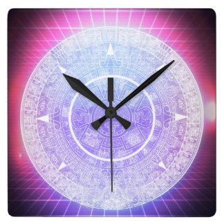Relógio Quadrado Estética asteca