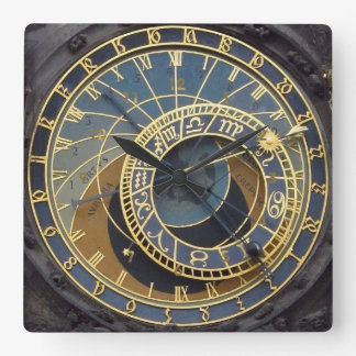 Relógio Quadrado Estilo Praga astronimical de Steampunk