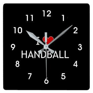 Relógio Quadrado Eu amo o handball