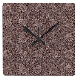 Relógio Quadrado fábrica do teste padrão, vintage 1A