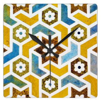 Relógio Quadrado Felicidade marroquina