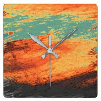 Relógio Quadrado Feriado gráfico