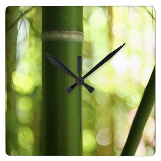 Relógio Quadrado Floresta de bambu