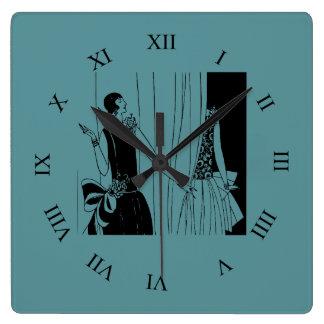 Relógio Quadrado Forma do 1920 do flapper da senhora do vintage