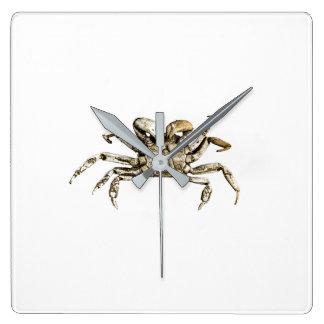 Relógio Quadrado Foto escura do caranguejo