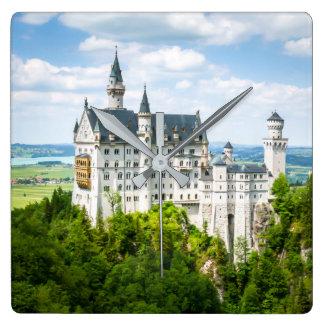 Relógio Quadrado Fotográfico decorativo do castelo de