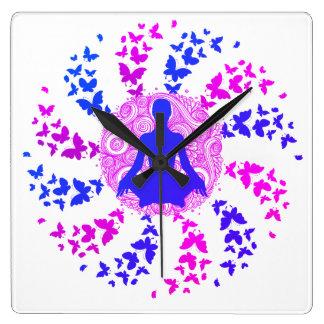 Relógio Quadrado fre positivo da paz de espírito da energia da