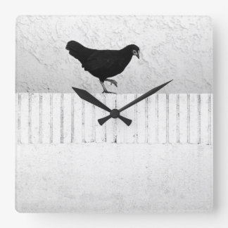 Relógio Quadrado Galinha americana do jogo