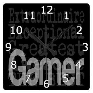 Relógio Quadrado Gamer Extraordinaire