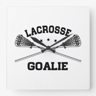 Relógio Quadrado Goalie do Lacrosse