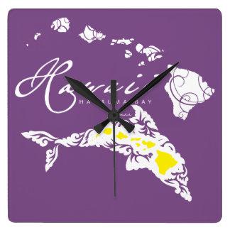 Relógio Quadrado Golfinho de Havaí