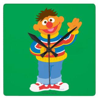Relógio Quadrado Gráfico de Ernie